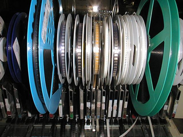 Closeup of Chips in Tape Feeders
